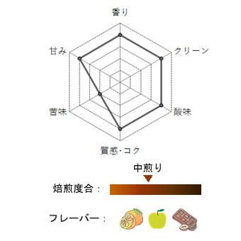 【スペシャルティコーヒー豆珈房】コスタリカ・ラコンチャ_プロファイル